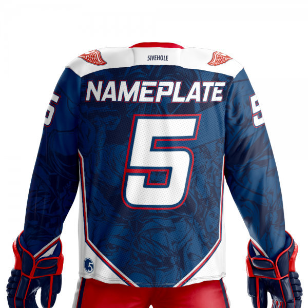 next rebel xwings custom sublimated hockey jersey back dark