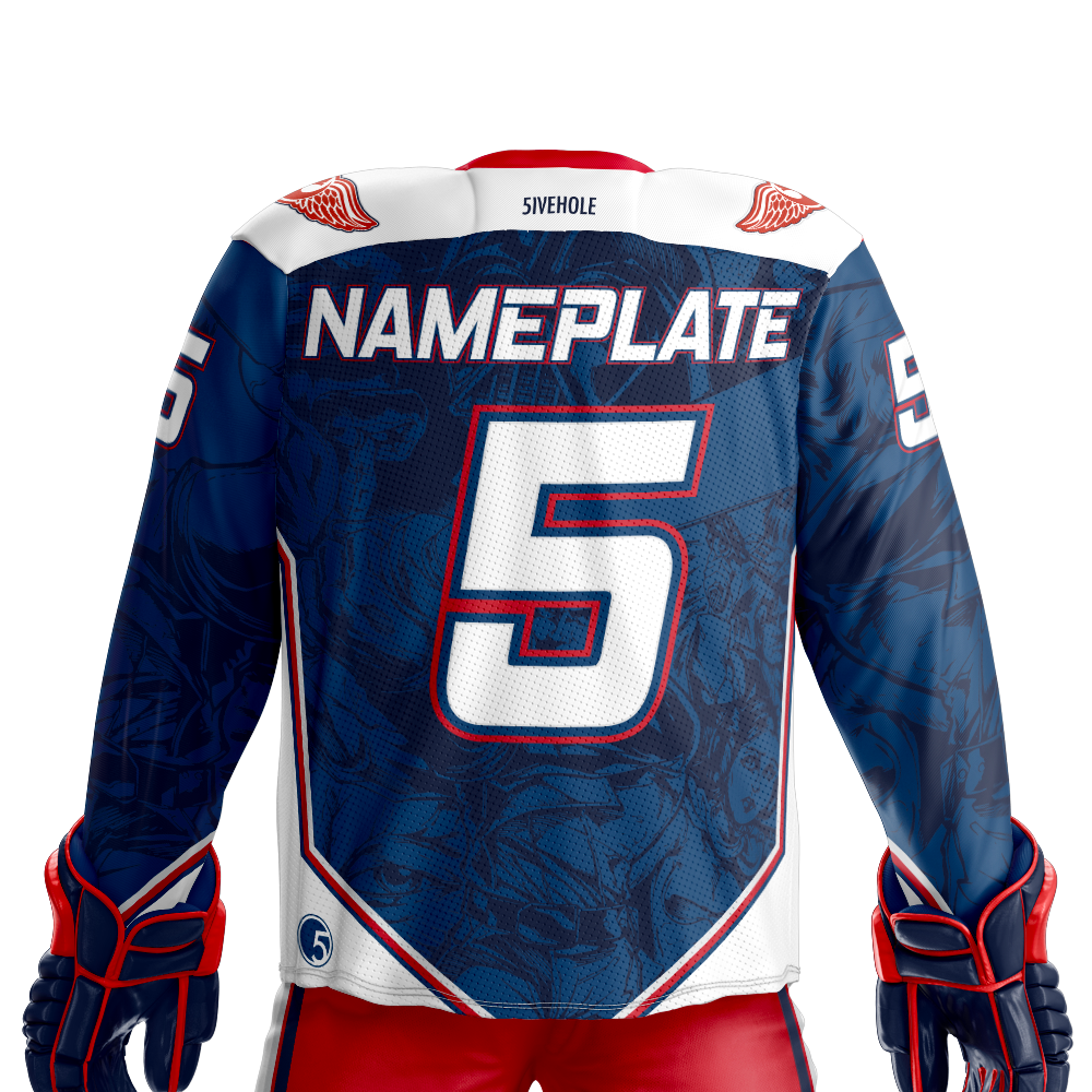 next rebel xwings custom sublimated hockey jersey back dark 1e2451de9