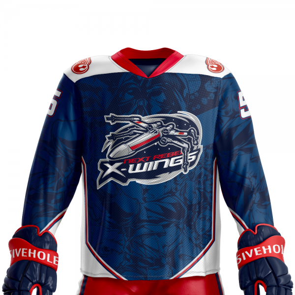 next rebel xwings custom sublimated hockey jersey front dark