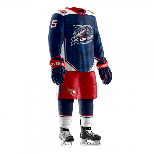 next rebel xwings custom sublimated hockey jersey full dark
