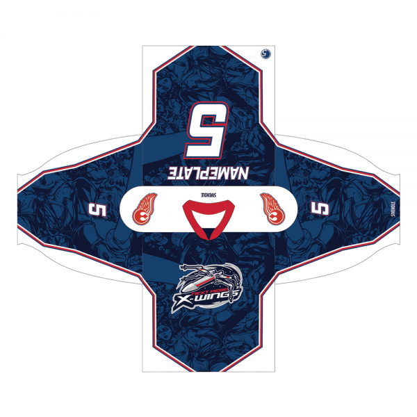 next rebel xwings custom sublimated hockey jersey proof dark
