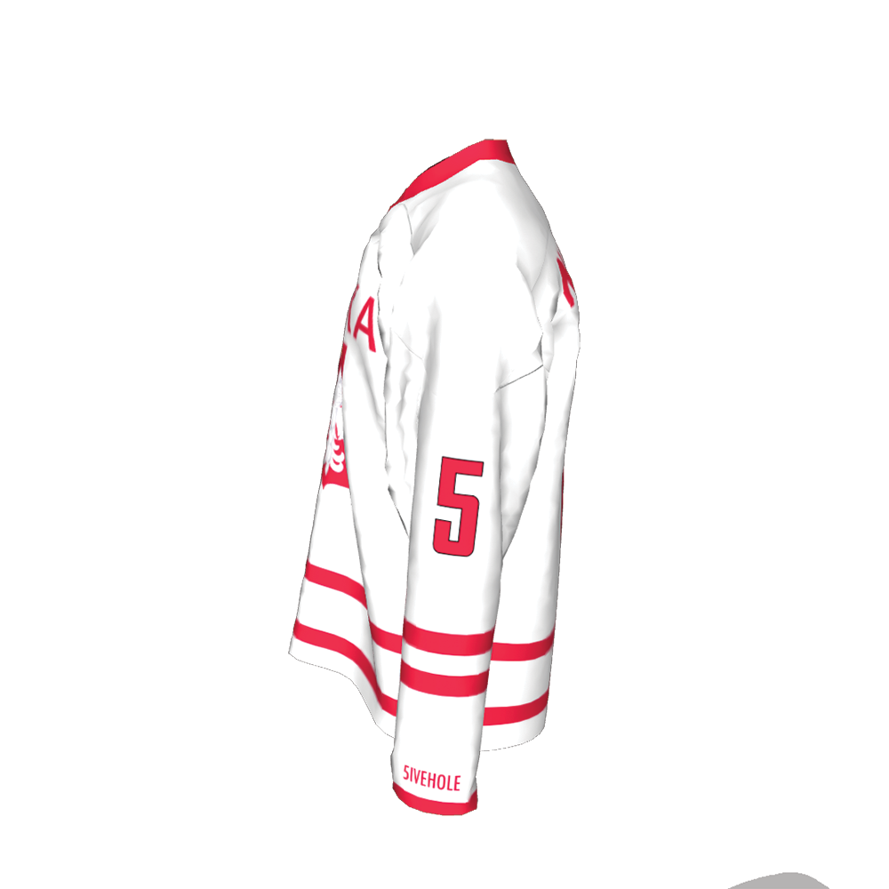 POLAND NATIONAL TEAM HOCKEY jersey great for players new//tag RED COLOR